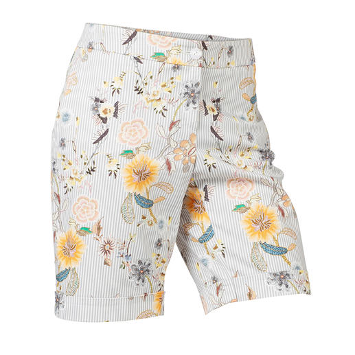 Edel-Bermuda-Shorts - Elegant genug als Rock-Ersatz: die Edel-Bermudas mit modischem Druck-Dessin.