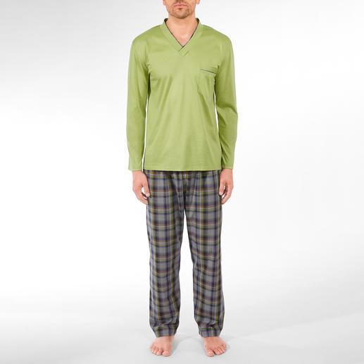 Lieblings-Pyjama kurz No. 25 oder lang No. 5 Ihr Lieblings-Pyjama zum kleinen Preis. Reine Baumwolle, sauber verarbeitet, made in Germany.