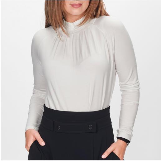 Strenesse Blusen-Shirt Eleganter Blusen-Look. Bequemes T-Shirt-Feeling.