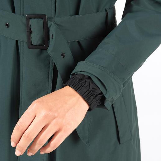 HappyRainyDays Regenmantel Wasserdicht, winddicht, atmungsaktiv: der stylishe Trend-Mantel, der perfekt vor Regen schützt.
