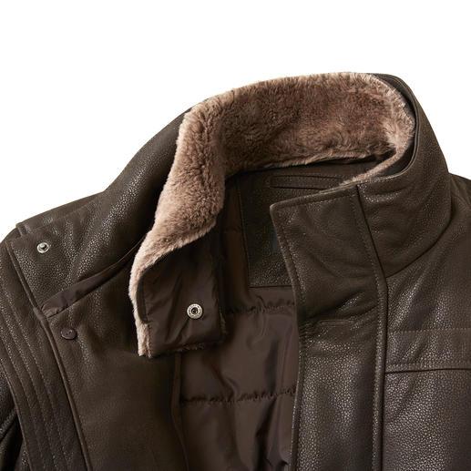 Arma Himalaya Ziegenleder-Jacke Die Jacke aus seltenem Himalaya-Ziegenleder: Extrem weich. Leicht wie eine zweite Haut. Dennoch sehr strapazierfähig.