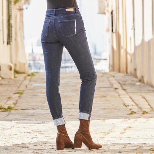 Alberto Damen-Stretch-Jeans Es gibt sie doch: knackig sitzende Jeans – so bequem wie Ihre Jogginghose. Vom deutschen Hosen-Spezialisten Alberto.