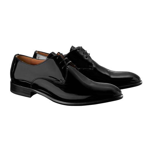 Profession Bottier Lackleder-Schuh Der wirklich gute Lackleder-Schuh für 269,– Franken. Echtes Leder. Durchgenäht. Made in Portugal.