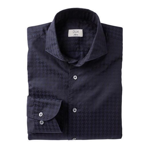 Dufour Modern-Hahnentritt-Hemd Die stilvolle Umsetzung der angesagten XL-Muster. Trendgerecht gross gemustert – und doch nicht zu plakativ.