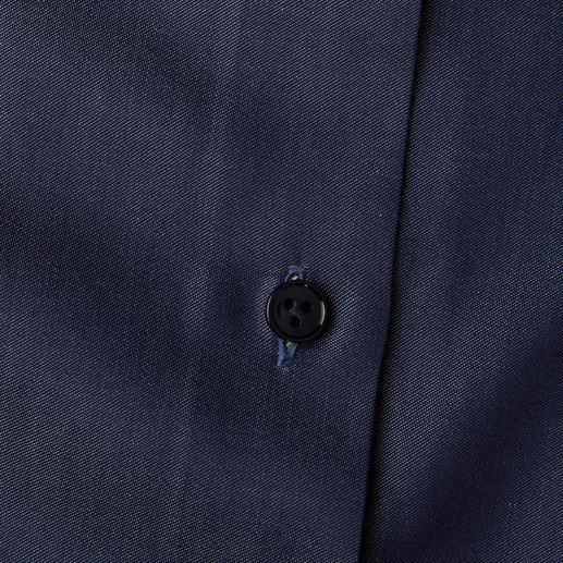van Laack Jeansbluse Denim-Look mit businesstauglicher Blusen-Eleganz. Aus merzerisierter Baumwolle fein gewebt.