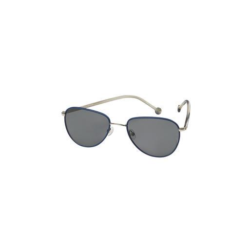 Monkeyglasses® Leder-Sonnenbrille Die Sonnenbrille mit lederbezogenem Edelstahlrahmen und Bügeln aus Baumwollacetat. Exklusiv von Monkeyglasses®.