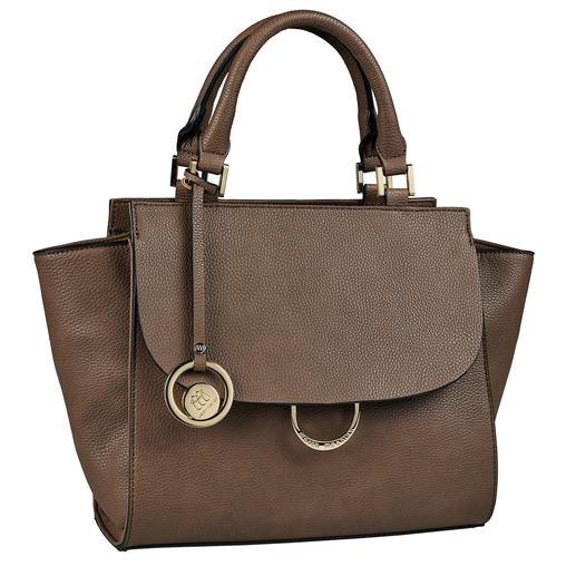 Merch Mashiah Trapez-Tasche Die Designertasche von Merch Mashiah: Unvergängliches Design vom Haute Couture-Star – und dennoch erschwinglich.