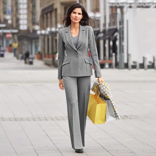 Barbara Schwarzer Anzug-Blazer oder -Hose Der moderne Klassiker unter den angesagten Power-Suits. Von Barbara Schwarzer, Düsseldorf.