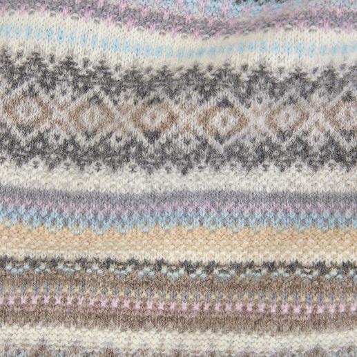 Eribé Fair-Isle-Cardigan Das seltene schottische Original unter den aktuellen Muster-Cardigans. Modern interpretiert von Eribé.
