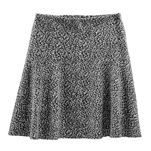 Baumwoll-Jersey-Schwingrock Tweed-Optik auf neue, leichte Art – als softer Baumwoll-Jersey.