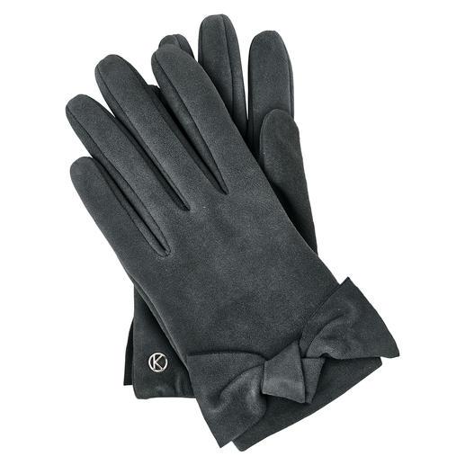 Otto Kessler Ziegenvelours-Handschuh Für einen Lederhandschuh aussergewöhnlich feminin. Für feinstes Ziegenveloursleder erfreulich günstig.