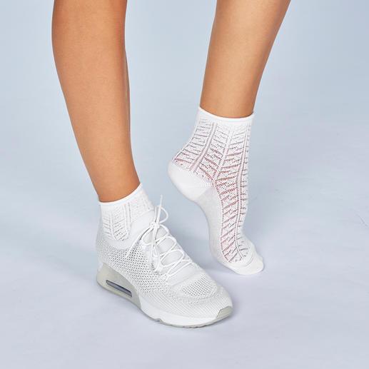 ELBEO Ajour-Socke Der neueste Trend. Von der ältesten Strumpfmarke der Welt. Kunstvoll in filigranem Ajour-Muster gestrickt.