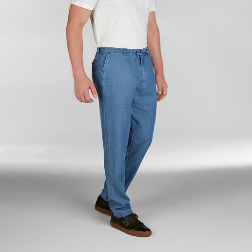 Hackett London Strand-Jeans Jeans bei 25 °C und mehr? Diese ja! Sommerleichter Tencel®-Denim. Luftige Leinwand-Bindung. Von Hackett London.