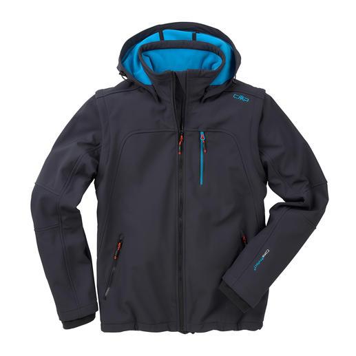 CMP Soft Shell-Herrenjacke - Jacke aus Soft Shell, mit WindProtect® von CMP. Schlank, leicht und trotzdem warm.