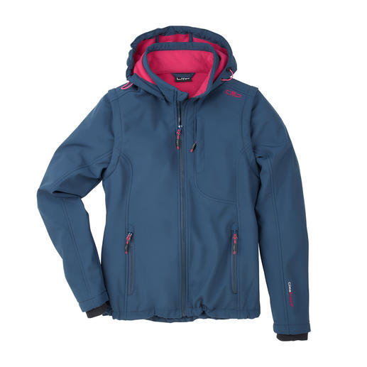 Schlank, leicht und trotzdem warm. Die Soft Shell-Jacke mit WindProtect®. Schlank, leicht und trotzdem warm. Von CMP.