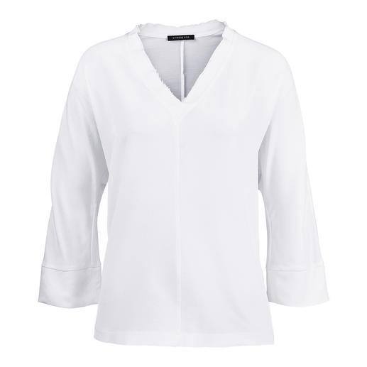 Strenesse Seiden-Shirt-Bluse Die Seiden-Shirt-Bluse von Strenesse: Sportiver Schnitt. Elegantes Material