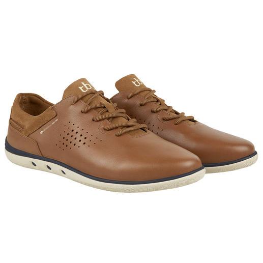 TBS waschbarer Ledersneaker Schluss mit Schuheputzen. Diesen sommerleichten Ledersneaker waschen Sie einfach in der Maschine.