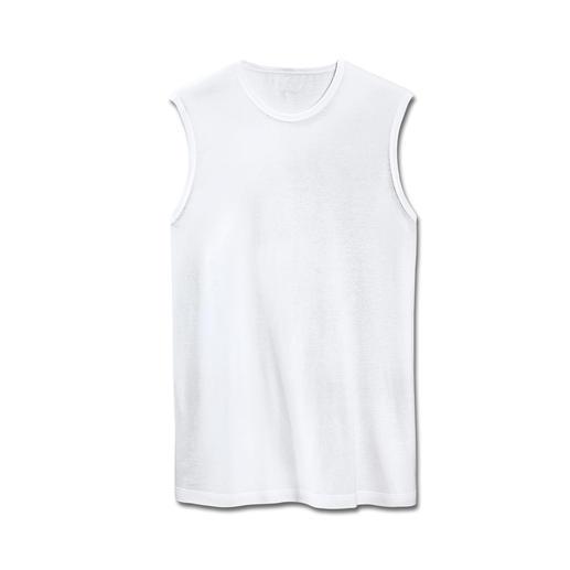 Ärmelloses Shirt Korrekt auch unter edlen Oberhemden.