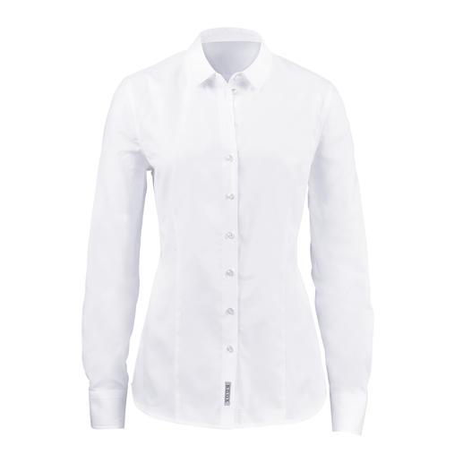 Die unvergängliche Oxford-Bluse. Die unvergängliche Oxford-Bluse. Aus reiner Baumwolle. Hochwertig verarbeitet.