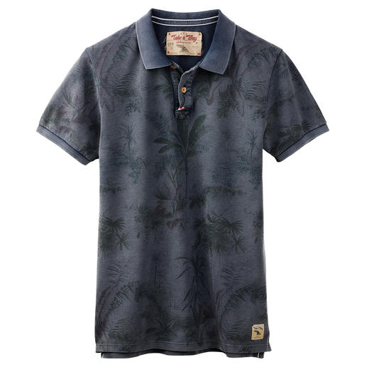 Take a way Herren-Polo-Shirt Top-Thema Print-Polos: besonders gut beim italienischen Label Take a way.