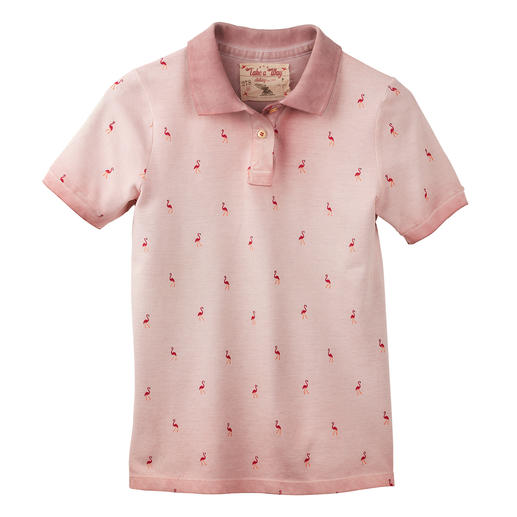 Take a way Damen-Polo-Shirt Top-Thema Print-Polos: besonders gut beim italienischen Label Take a way.