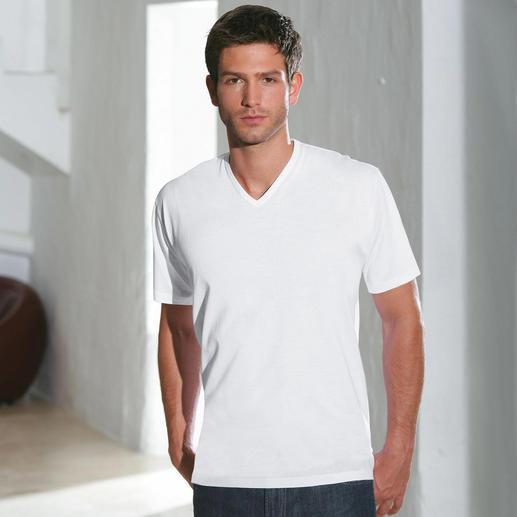 V-Shirt, Weiss