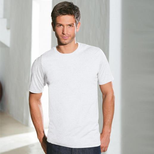 Rundhals-Shirt, Weiss