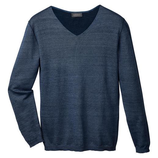 Seldom Leinen-Giza-Pullover Selten ist Doubleface-Strick so herrlich leicht. Und aus so hochwertigem Material.