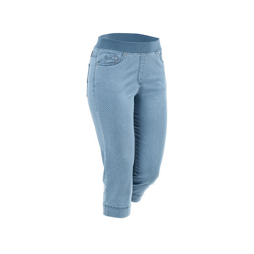 Endlich: bequeme Jeggings, die auch zu kurzen Oberteilen tragbar sind. Bequeme Jeggings, die auch zu kurzen Oberteilen tragbar sind. Optisch nah an konfektionierten Hosen.