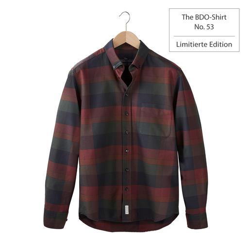 The BDO-shirt, Limited Edition No.53 Entdecken Sie einen guten alten Freund. Und vergessen Sie, dass ein Hemd gebügelt werden muss.