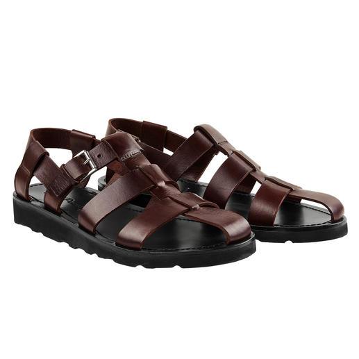 Piaceri Sandale Edler. Hochwertiger. Und dadurch sogar Anzug-tauglich. Die handgefertigte Leder-Sandale im italienischen Design.