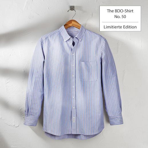 The BDO-Shirt, Limited Edition No.50 Entdecken Sie einen guten alten Freund. Und vergessen Sie, dass ein Hemd gebügelt werden muss.