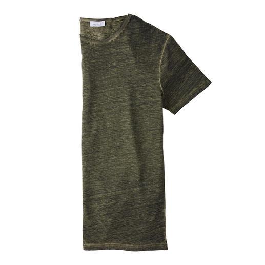 Ihre natürliche Klimaanlage an heissen Tagen: das T-Shirt aus reinem Leinen. Ihre natürliche Klimaanlage an heissen Tagen: das T-Shirt aus reinem Leinen.