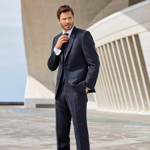 Anzugweste, Anzughose und Anzug-Sakko, Blau
