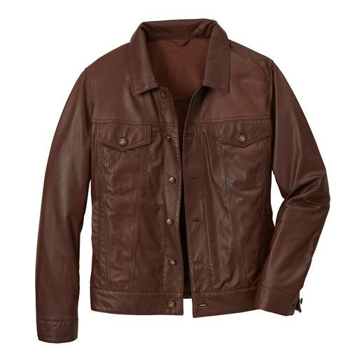 Rentierleder-Jacke im Jeansjacken-Look Aus dem weltweit dünnsten Rentier-Nappaleder.