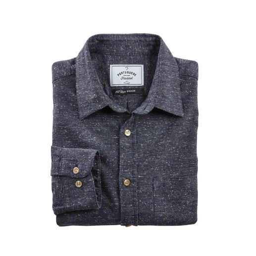 Donegal-Hemd Das Baumwoll-Seiden-Hemd im angesagten Donegal-Stil.