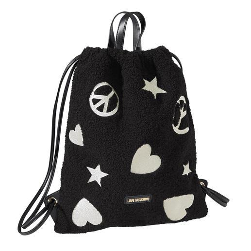Love Moschino Teddy-Gym-Bag Von der Turnhalle auf die Laufstege - der Turnbeutel wird zum Fashion-Piece. Stylish und unverkennbar.