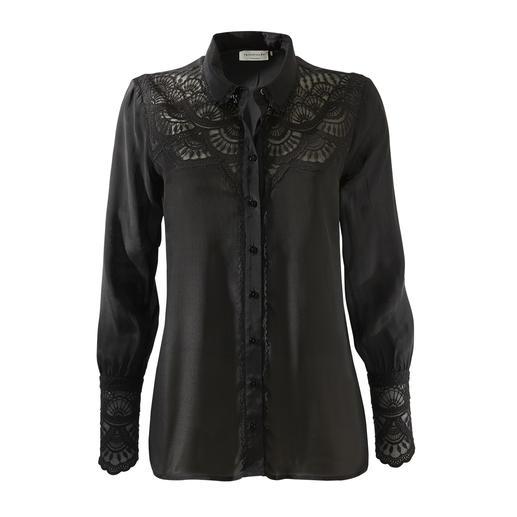 Die unkomplizierte Spitzen-Bluse für jeden Anlass. Die unkomplizierte Spitzen-Bluse für jeden Anlass. Von Rosemunde Copenhagen.