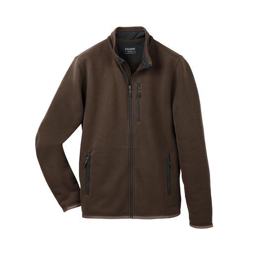 Der vielseitige Lumber von Outerwear- und Workwear-Spezialist Filson/USA. Aussen klassisch-elegante Strick-Optik. Innen leichter, sanft wärmender Polartec®-Fleece.