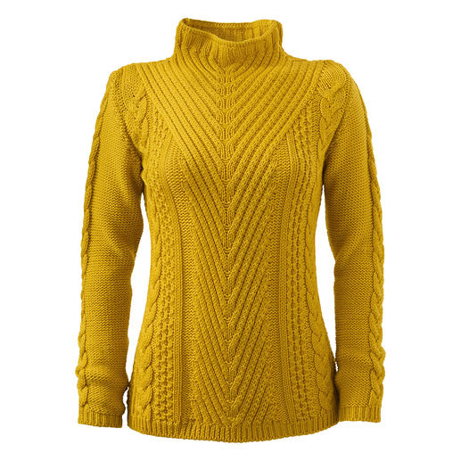 Der Pullover mit vielen spannenden Strukturen. Made in England. Von Peregrine.