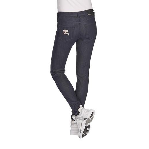 Karl Lagerfeld Raw Denim Jeans Cleaner Raw Denim-Look, aber mit anschmiegsamem Tragekomfort und unkompliziertem Pflegeaufwand.