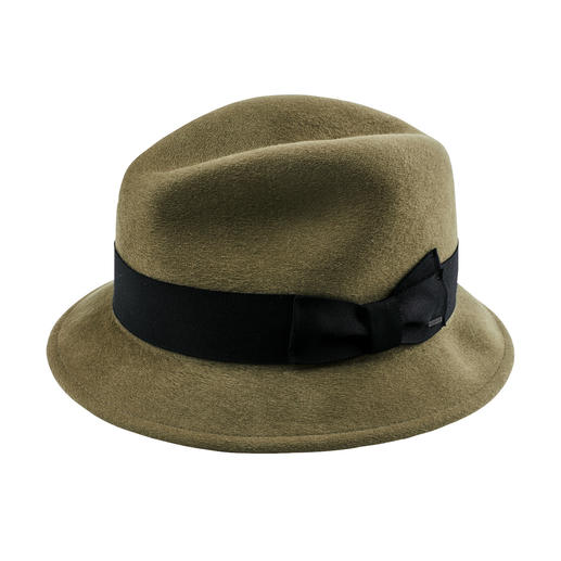 Klassischer Trilby-Hut Warm, winddicht, wasserabweisend: die Luxus-Variante unter den Woll-Filzhüten.