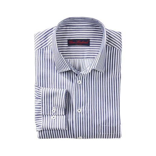 Seidiges Blockstreifenhemd Unter den modischen Blockstreifen-Hemden eines der edelsten.