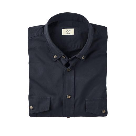 DU4 Kavallerie-Twill-Hemd Kernig und doch fein genug fürs Business: das Kavallerie-Twillhemd von Edelweber Thomas Mason.