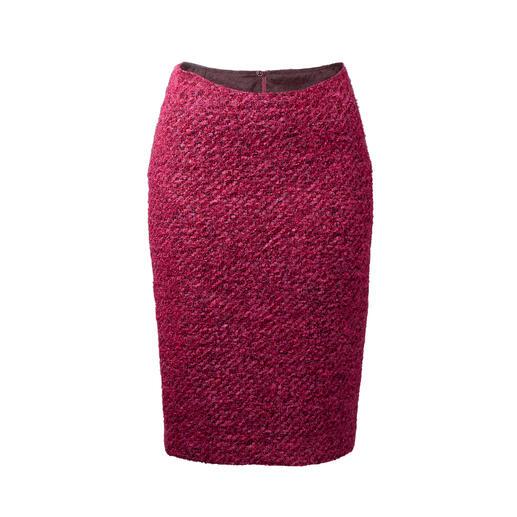Der Bouclé-Bleistiftrock in der Trendfarbe Pink. Doppelt klassisch - dreifache modisch.