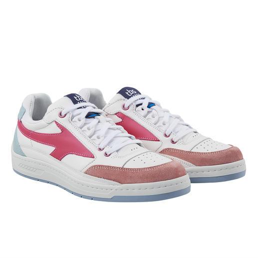 TBS Waschbarer Damen-Ledersneaker Dauerbrenner helle Ledersneaker – aber bitte waschmaschinenfest.