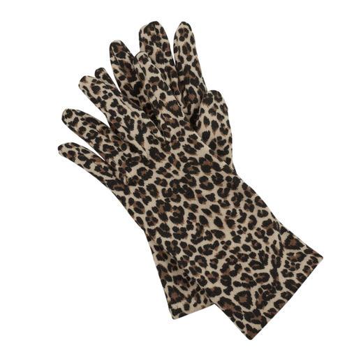 Die Fleece-Handschuhe von Ixli, Frankreich. Animalprint statt langweilig uni.