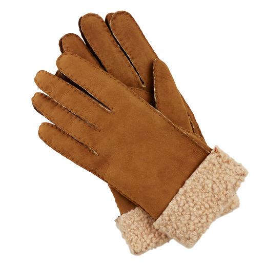 Die Curly-Lamm-Handschuhe von Otto Kessler, Handschuhmanufaktur seit 1923. Erlesenes Curly-Lammfell. Perfekte Passform. Sorgfältige Verarbeitung.