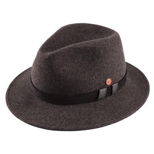 Stilvoll wie ein Hut, aber wärmend wie eine Mütze. Mit Fleece-Einsatz und Ohrenklappen. Von Mayser, deutsche Hutmacherkunst seit 1800.