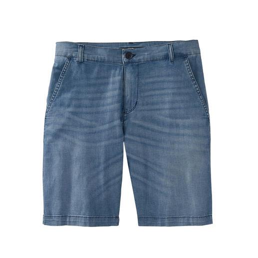 Karl Lagerfeld Jeans-Bermudas 7 oz. Light-Denim macht diese Jeans-Bermudas zum luftigen Sommer-Hit.
